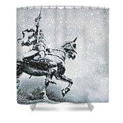 Snow On Joan Shower Curtain