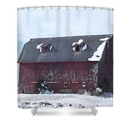 Snow On Roof Shower Curtain