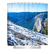 Snow On Sentinel Dome In Yosemite Np-ca Shower Curtain