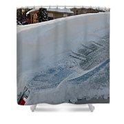 Snow On The Car Shower Curtain