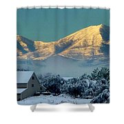 Snow On Utah Mountains Shower Curtain