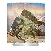 Snow Peaks Of Mount Titlis Shower Curtain