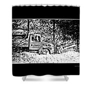 Snow Plow In Black And White Shower Curtain
