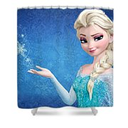 Snow Queen Elsa Frozen Shower Curtain