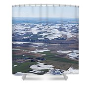 Snow Remnants On The Palouse Shower Curtain
