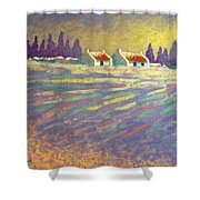 Snow Scape County Wicklow Shower Curtain by John  Nolan