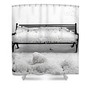 Snow Scene 8 Shower Curtain by Patrick J Murphy
