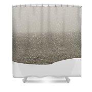 Snow Sea Sky Shower Curtain