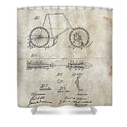 Snow Shoe Attachment For Bicycles Patent 1896 Shower Curtain