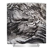 Snow Slope Shower Curtain