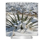 Snow Spines Shower Curtain
