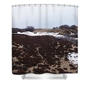 Snow Spotted Dunes Shower Curtain