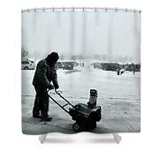 Snow Storm Minneapolis Shower Curtain