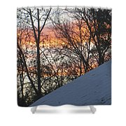 Snow Sunset Shower Curtain