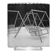 Snow Swings Shower Curtain