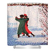 Snow Tango Shower Curtain