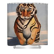 Snow Tiger Shower Curtain
