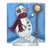 Snow Time Shower Curtain