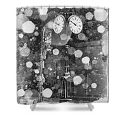 Snow Time Holly Michigan Shower Curtain