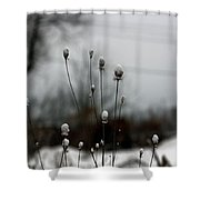 Snow Tops Shower Curtain