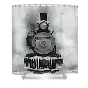Snow Train Shower Curtain