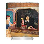 Snow White With Apple Shower Curtain