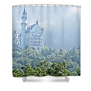 Snow White's Palace In Morning Mist Shower Curtain