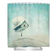 Snowbird's Home Shower Curtain by Priska Wettstein
