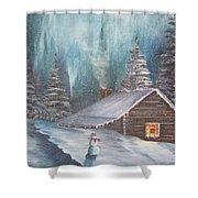 Snowbound Holiday Shower Curtain