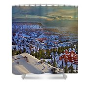 Snowbow During Winter Sunrise Bryce Canyon National Park Utah Shower Curtain