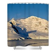 Snowcapped Mountain, Andvord Bay Shower Curtain