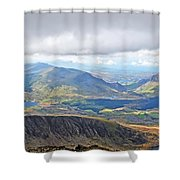 Snowdonian Thunderstorm Shower Curtain
