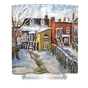 Snowed In Yards By Prankearts Shower Curtain
