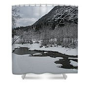Snowed Under Valley Shower Curtain