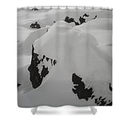Snowface Mother Earth  Protecter Ischgl Austria Shower Curtain