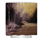 Snowfall At Dusk Shower Curtain