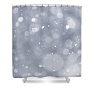 Snowfall Background Shower Curtain by Elena Elisseeva