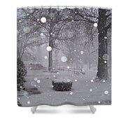 Snowfall On Ayers Shower Curtain