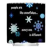 Snowflakes 4 Shower Curtain