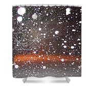 Snowflakes And Orbs Shower Curtain