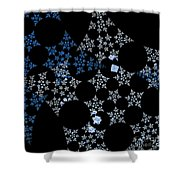 Snowflakes By Jammer Shower Curtain