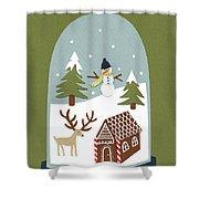 Snowglobe Shower Curtain