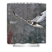 Snowing Flight Shower Curtain