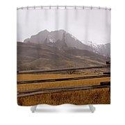 Snowing On The Hoo Doos   #4339 Shower Curtain