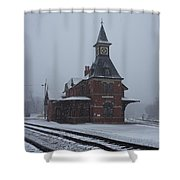 Snowing Point Of Rock Shower Curtain