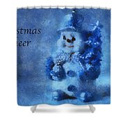 Snowman Christmas Cheer Photo Art 01 Shower Curtain