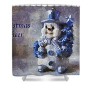 Snowman Christmas Cheer Photo Art 02 Shower Curtain