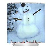 Snowman Shower Curtain
