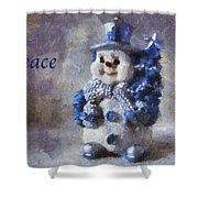 Snowman Peace Photo Art 01 Shower Curtain