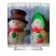 Snowman Photo Art 09 Shower Curtain